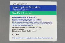 IPRATROPIUM BOMIDE 0.02%, 0.2MG/ML UNIT DOSE INHALATION SOLUTION