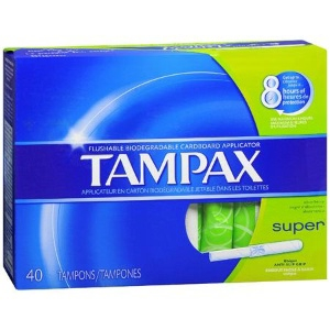 TAMPON, TAMPAX SUPER ABSORBENCY 40/BX
