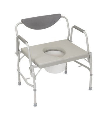 COMMODE, DELUXE BARIATRIC DROP ARM, EACH