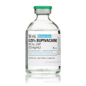 BUPIVACAINE HCL .25% 50ML MDV EACH