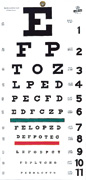 EYE CHART, ADULT 20'      EACH