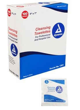 TOWELETTES, CLEANSING, 100/BX
