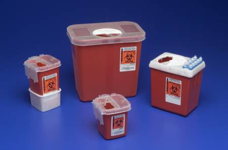 SHARPS, 2.2QT RED PHLEBOTOMY CONTAINER, EACH