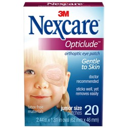 PATCH, EYE JUNIOR NEXCARE OPTICLUDE 20/BX 36BX/CS