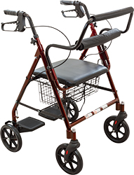 TRANSPORT ROLLATOR BURGUNDY, EACH