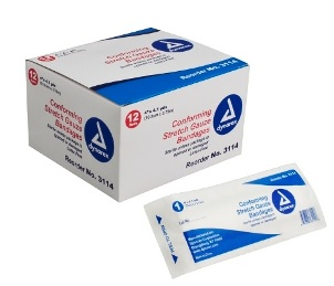 "GAUZE, 4"" STRETCH BANDAGES CONFORMING, STERILE EACH"