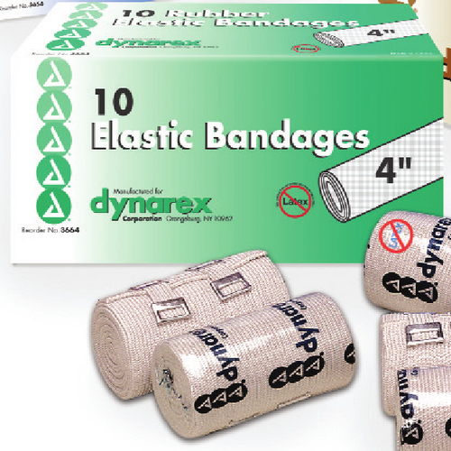 "BANDAGE, 4"" ACE ELASTIC TAN W/CLIPS, EACH  (10/BOX)"