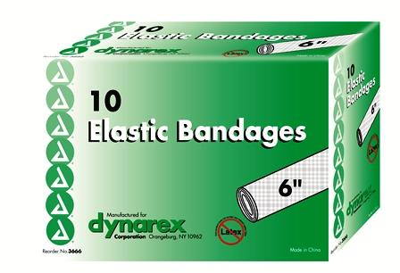 "BANDAGE, 6"" ACE ELASTIC TAN W/CLIPS, EACH (10/BOX)"