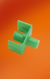 CONNECTOR, FLUID DISP FDC1000, GREEN, 100/CS