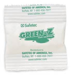 SPILL CONTROL, GREEN-Z, 21GM SINGLE USE POUCH