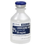 LIDOCAINE 2%, 50ML VIAL EACH  (25/BX) 2BX/CS