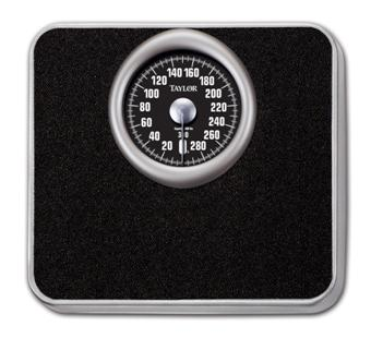 "SCALE, 300LB 5"" DIAL SPEEDOMETER, BLACK EACH"