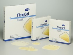"DRESSING, FLEXICOL 4X4"" THIN, HYDROCOLLOID, 10/BX"