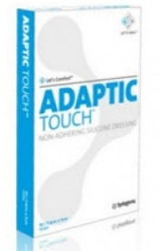 "DRESSING, ADAPTIC TOUCH 5""X 6"" NON-ADHERING SILICONE COATED, 10/"