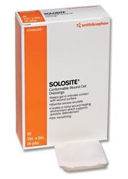 "DRESSING, HYDROGEL SOLOSITE 4X4"", 10/BX"