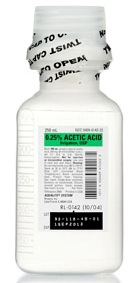 ACETIC ACID, 0.25% 500ML FOR IRRIGATION, 16/CS