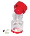 PILL CRUSHER, PLASTIC HAND OPERATED, TWIST MECHANISM, EACH