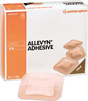 "DRESSING, ALLEVYN FOAM 5X5"" HYDROCELLULAR, BORDERED, 10/BX"