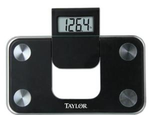 SCALE, 350LB GLASS ELECTRONIC BLACK W/ EXPANDABLE READOUT 9W X 5