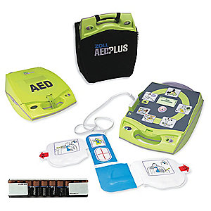AED, ZOLL PLUS FULLY AUTO DEFIBRILLATOR WITH COVER