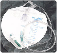 BAG, DRAIN 2L (2000CC) W/HOOK, ANTI-REFLUX LF, EACH