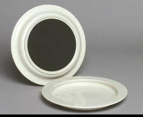 "PLATE, DINNER 9"" W/INNER LIP REUSABLE OFF-WHITE, EACH  MFG: ALIM"