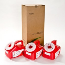 SHARPS, 3 1 GALL CONTAINER; 1 MAILING BOX