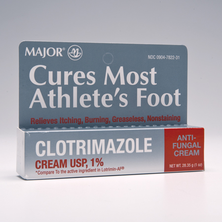 CREAM, CLOTRIMAZOLE (ANTIFUNGAL) 1%, 1 OZ TUBE, EACH