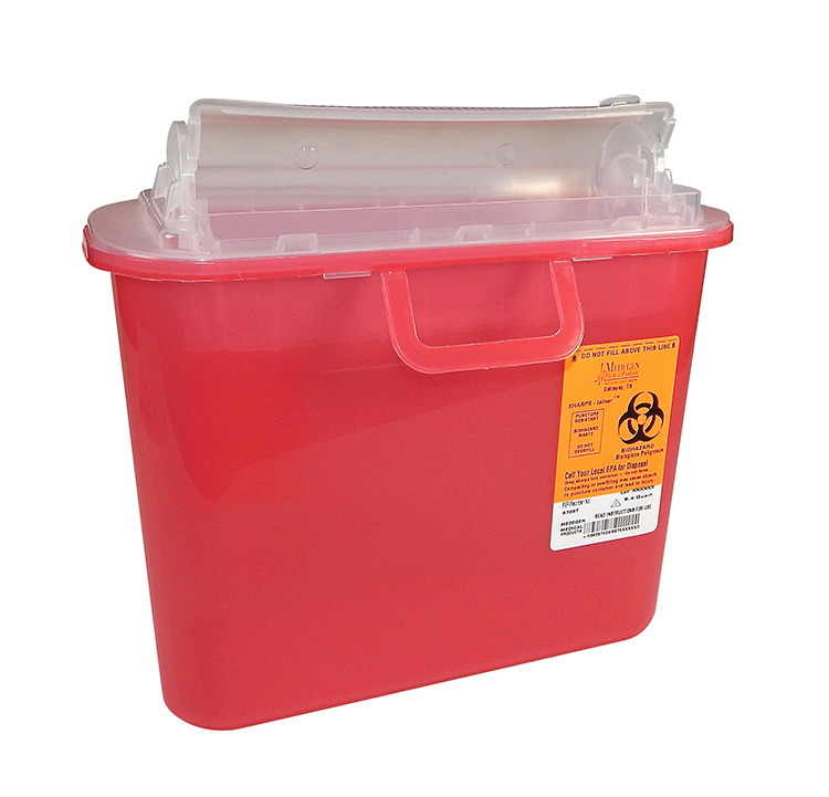 SHARPS, RED 5.4QT TOP ENTRY,  EACH 12/CS