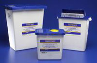 SHARPS, 3GAL WHITE/BLUE LID, EACH