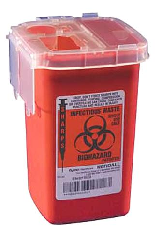 SHARPS, 1QT RED STACKABLE SAFETY CONTAINERS, EACH