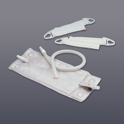 KIT, URINARY LEG BAG MEDIUM 17 OZ. LF W/ TUBING AND STRAPS, EACH