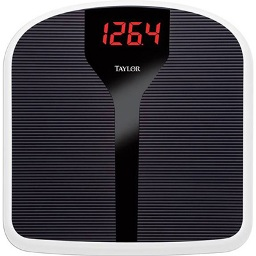 "SCALE, 350 LB ELECTRONIC 1.5"" LED, RIBBED MAT"