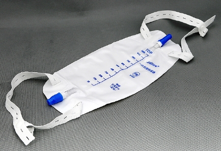 BAG, LEG 600ML, PUSH PULL DRAIN, ANTI-REFLUX, LF STRAPS, EACH