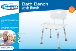 BENCH, BATH W/ BACK, ADJUSTABLE, EACH