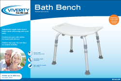 BENCH, BATH W/OUT BACK, ADJUSTABLE, EACH