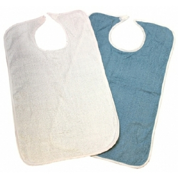 BIB, TERRY CLOTH 18X34 BLUE