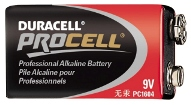 BATTERY, 9V DURACELL, EACH
