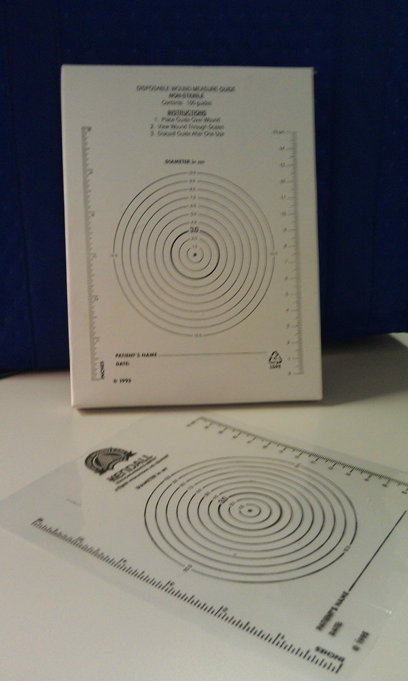 GUIDE, WOUND MEASURING, BULLSEYE, CIRCULAR, 50/ROLL