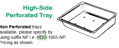 TRAY, HI SIDED 6.5WX10LX2H, EACH