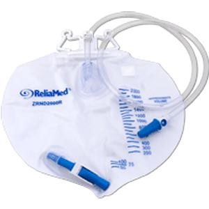 BAG, DRAIN 2000ML VENTED, DOUBLE HANGER, ANTI REFLUX.
