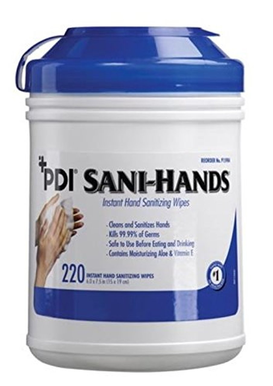 WIPES, SANITIZING SANI-HANDS 6X7.5 220/TUB  EACH