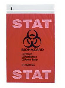 BAG, SPECIMEN BIOHAZARD, 100 PACK