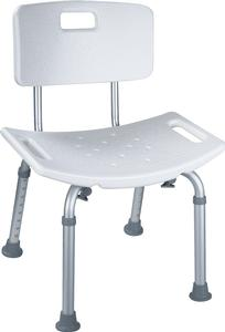 CHAIR, SHOWER W/BACK, ADJUSTABLE, EACH