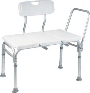 BENCH, SHOWER TRANSFER W/BACK 300LB WT CAP, EACH