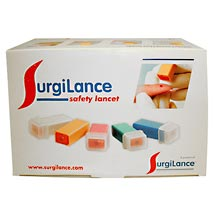 LANCET, SURGILANCE SAFETY, 21G 2.8MM, 100/BX