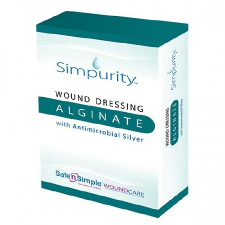 DRESSING, 4X5 ALGINATE WOUND, ANTIMICROBIAL SILVER 10/BX