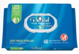 "WASHCLOTH, PREVAIL 8""X12"" SOFT PACK PRESS & PULL LID"